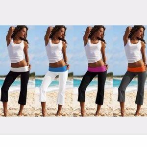 Victoria's Secret Foldover Waist Yoga Capri